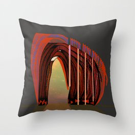 Entrance To The Unknown / Elephant 2 Throw Pillow