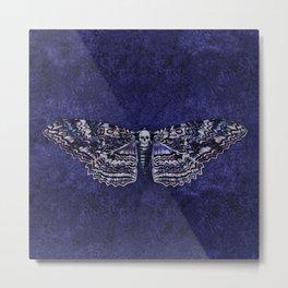 Deathshead Moth Metal Print