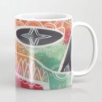calavera Mugs featuring Calavera 1 by Santiago Uceda
