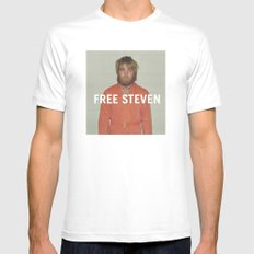 Free Steven White Mens Fitted Tee MEDIUM