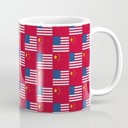 Mix of flag : usa and China Coffee Mug
