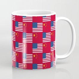 Mix of flag: usa and China Coffee Mug