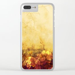 LOVELY FLOWERS ARE KISSING A YELLOW FIELD Clear iPhone Case