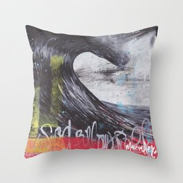 Sea Billows Roll 022715 Throw Pillow