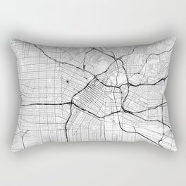 Los Angeles Map Gray Rectangular Pillow