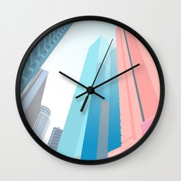 HONG KONG URBANSCAPE S1 Wall Clock
