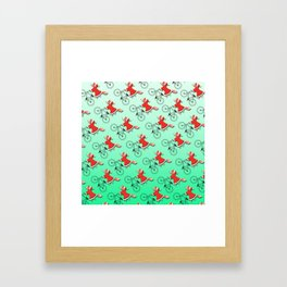 Christmas fox Framed Art Print