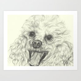Dog-Einstein Art Print