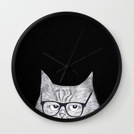 Intelligent cat Wall Clock