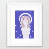 dangan ronpa Framed Art Prints featuring Dangan Ronpa - Angel by MinawaKittten