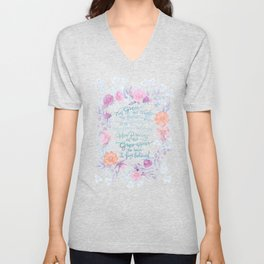 Amazing Grace - Hymn Unisex V-Neck