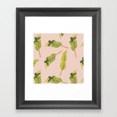 Tropical '17 - Solar [Banana Leaves] Framed Art Print