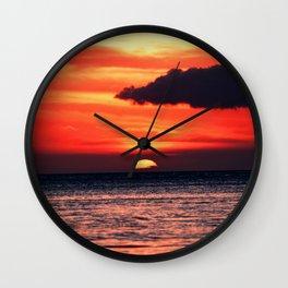 Big Island Hawaii Sunset Wall Clock