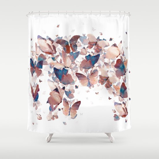 Butterfly Assemblage Shower Curtain