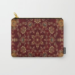 Copper Red Star Fractal Carry-All Pouch