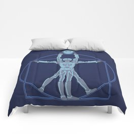 Vitruvian Tron Comforters