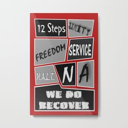 Narcotics Anonymous 12 Step Poster Metal Print