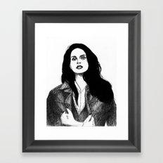 Leather jacket Framed Art Print