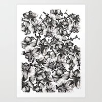 orchid Art Prints featuring orchid by GYYO
