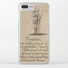 Game of Geography - Virginia (Stefano della Bella, 1644) Clear iPhone Case