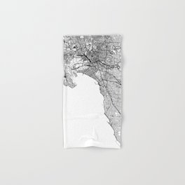Melbourne White Map Hand & Bath Towel