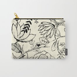 Floral Illustration Carry-All Pouch