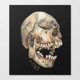 Open Mouth Skull Canvas Print