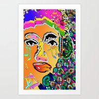 dj Art Prints featuring DJ by sladja