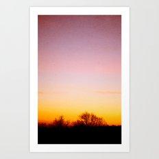 Rosey Morning Sky Art Print