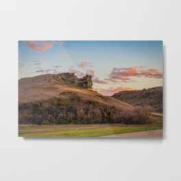 Lover's Cliff, Almont, North Dakota Metal Print