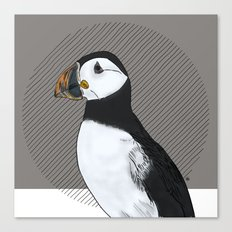 FEATHER FEST - PUFFIN Canvas Print