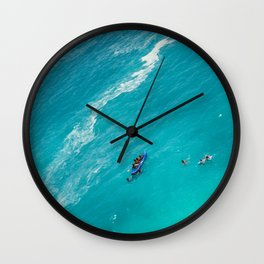 Beach from above Wall Clock