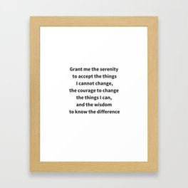KNOW THE DIFFERENCE Framed Art Print