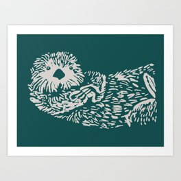 The handsome sea otter Art Print