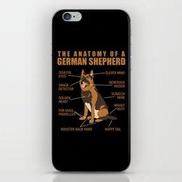 German Shepherd Anatomy iPhone Skin