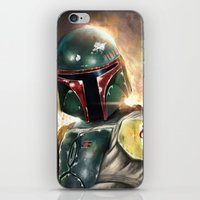 boba fett iPhone & iPod Skins featuring Boba Fett by Mishel Robinadeh