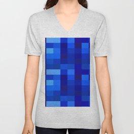Blue Mosaic Unisex V-Neck
