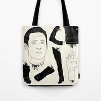data Tote Bags featuring Decommissioned: Data by Josh Ln