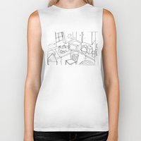 kitchen Biker Tanks featuring Kitchen by Frances Roughton