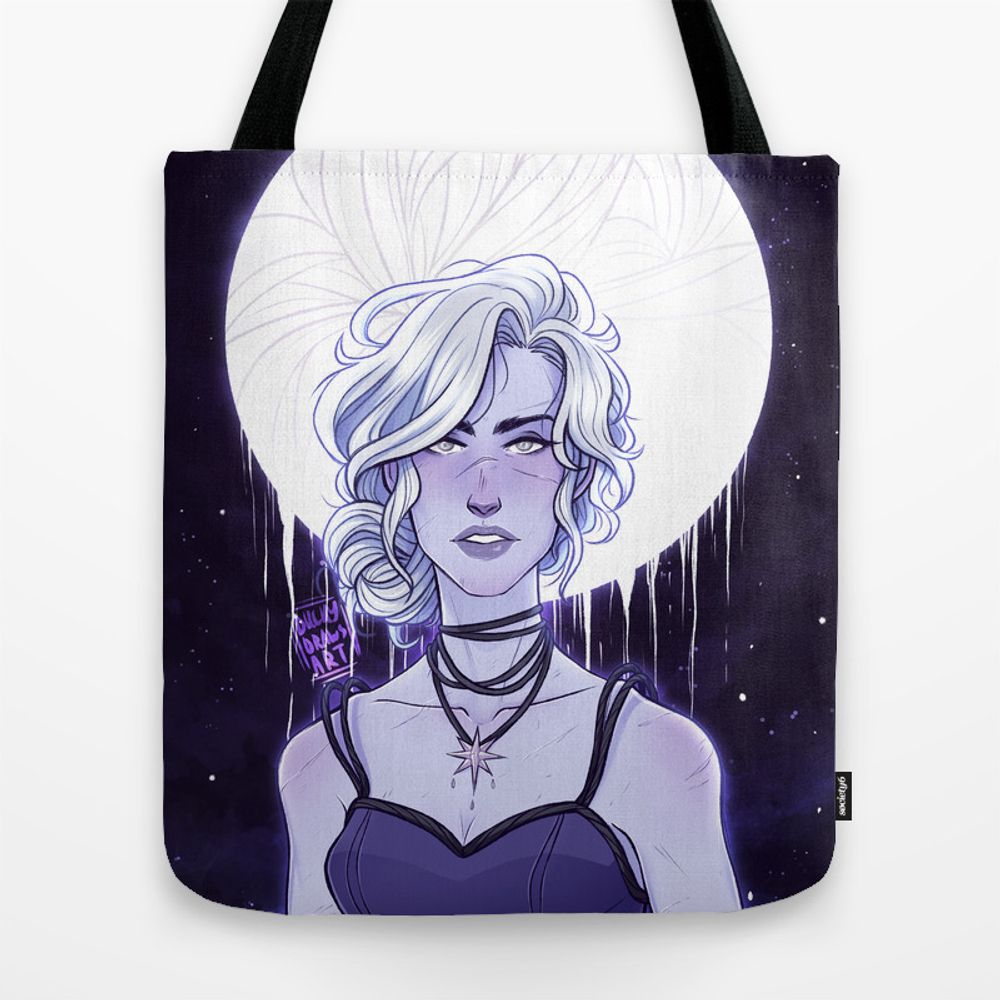 Luminus Moon Girl Tote Purse by Duckydrawsart (TBG9650102) photo