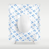 egg Shower Curtains featuring Egg by Jori