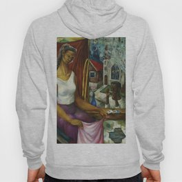 African American Masterpiece 'July 8th' by Fred Jones Hoody