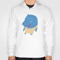 hippo Hoodies featuring Hippo by Jennifer Nystedt