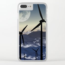 Turbine Tranquility Clear iPhone Case
