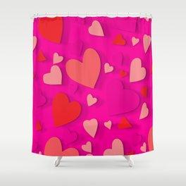 Decorative paper heart 3 Shower Curtain