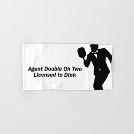 Agent 002 - Licensed to Dink Hand & Bath Towel