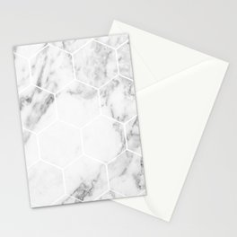 White marble hexagonal beehive Stationery Cards