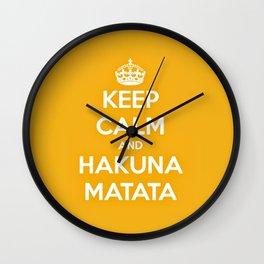 Keep Calm & Hakuna Matata. Wall Clock