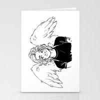 angel wings Stationery Cards featuring Wings by kendrawcandraw
