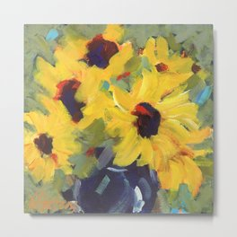 Sage and Sunflowers Metal Print